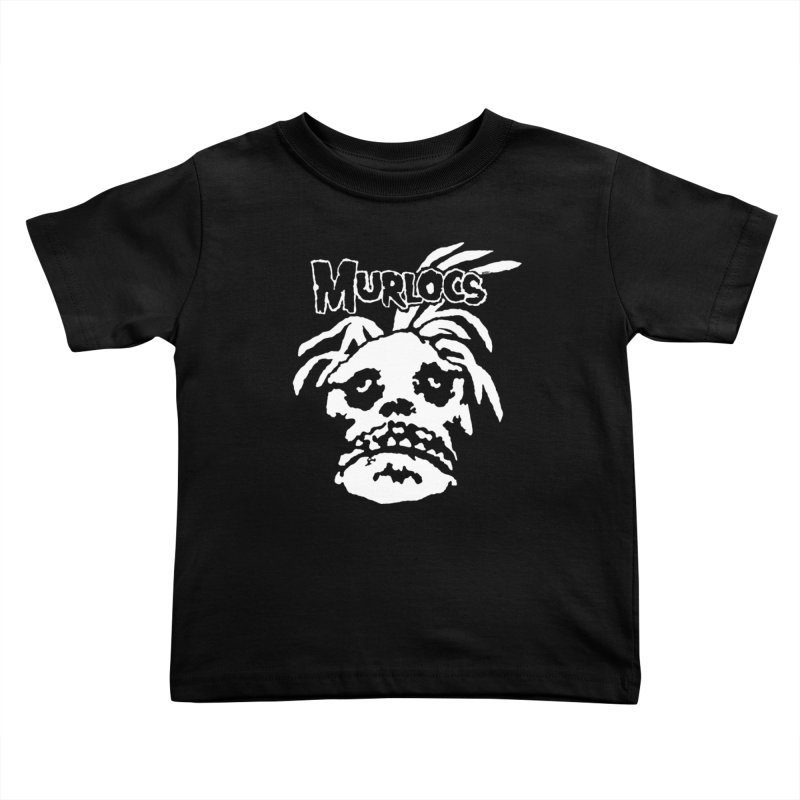 Murloc Misfits black and white Kids Toddler T-Shirt by World Famous Design Junkies