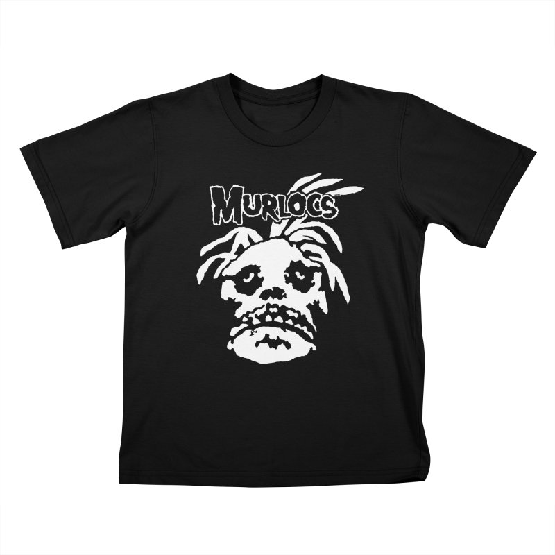 Murloc Misfits black and white Kids T-Shirt by World Famous Design Junkies