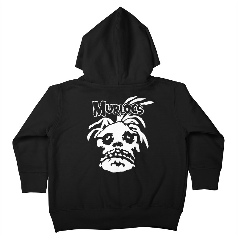 Murloc Misfits black and white Kids Toddler Zip-Up Hoody by World Famous Design Junkies