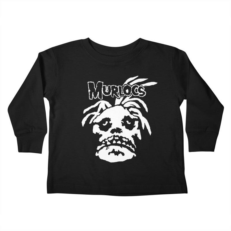 Murloc Misfits black and white Kids Toddler Longsleeve T-Shirt by World Famous Design Junkies