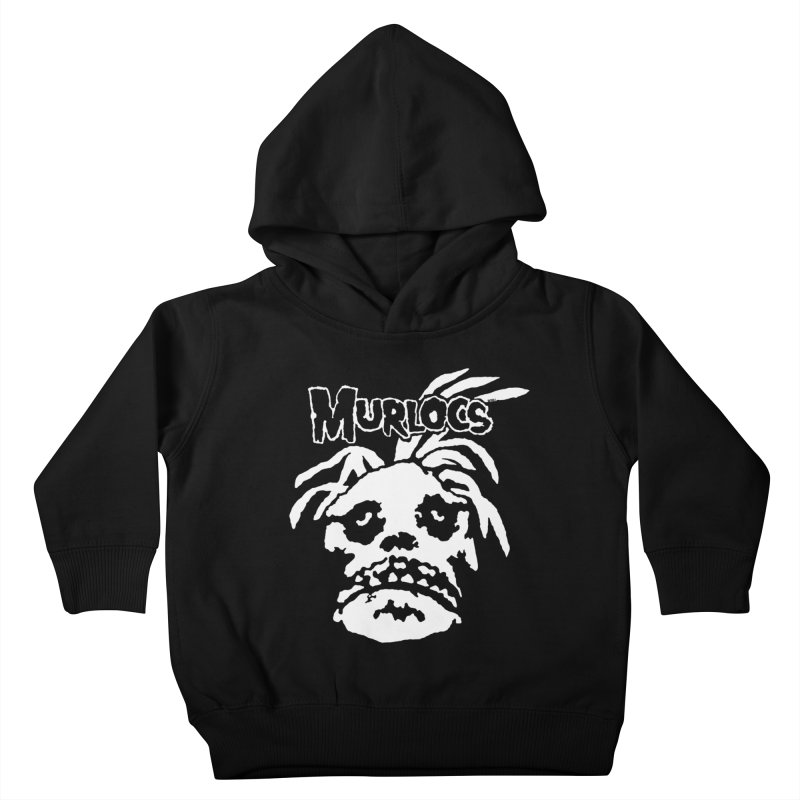 Murloc Misfits black and white Kids Toddler Pullover Hoody by World Famous Design Junkies