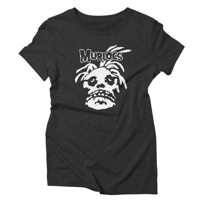 Murloc Misfits black and white Women's Triblend T-Shirt by World Famous Design Junkies