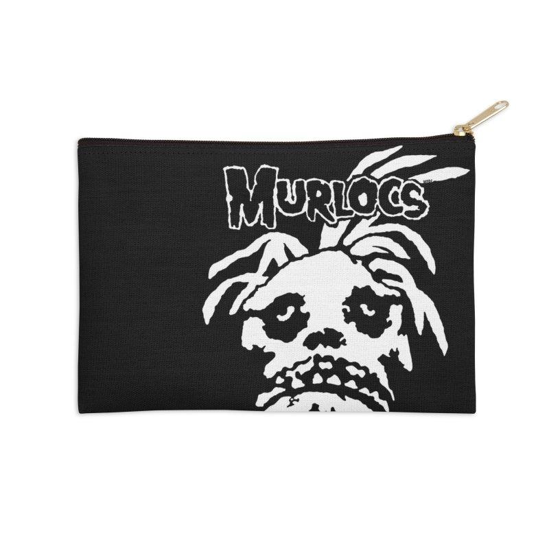 Murloc Misfits black and white Accessories Zip Pouch by World Famous Design Junkies