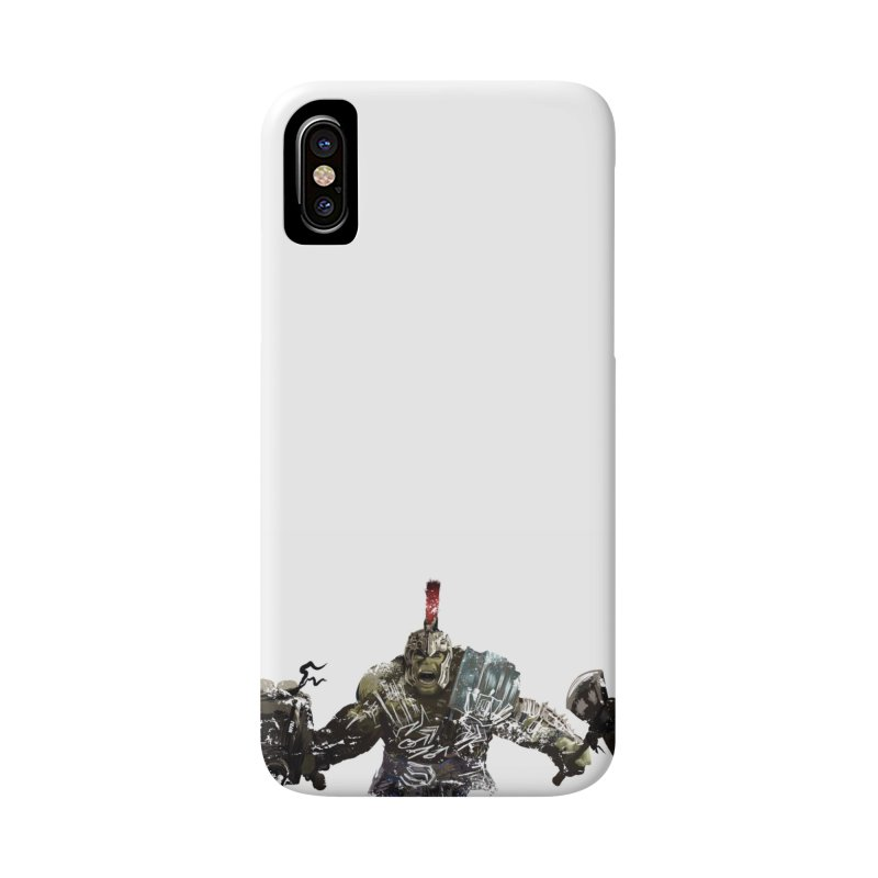 Green Gladiator Guy Accessories Phone Case by World Famous Design Junkies