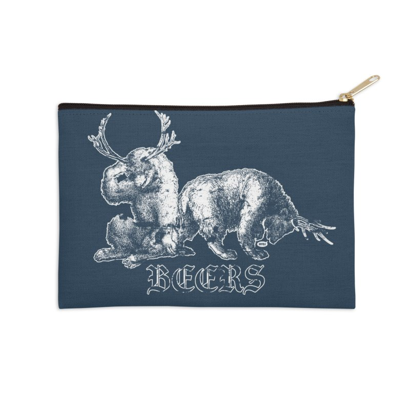 Two more beers Accessories Zip Pouch by World Famous Design Junkies