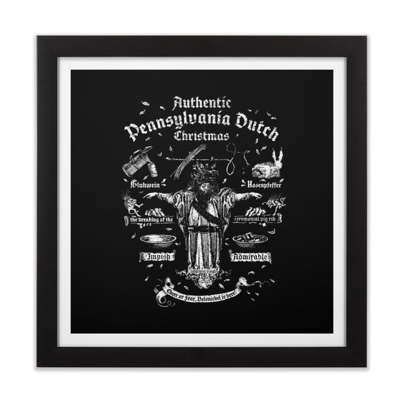 Belsnickel Celebrates Authentic Pennsylvania Dutch Christmas Home Framed Fine Art Print by World Famous Design Junkies
