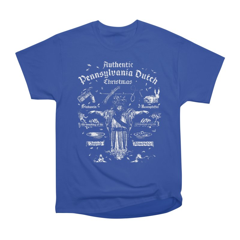 Belsnickel Celebrates Authentic Pennsylvania Dutch Christmas Men's Heavyweight T-Shirt by World Famous Design Junkies