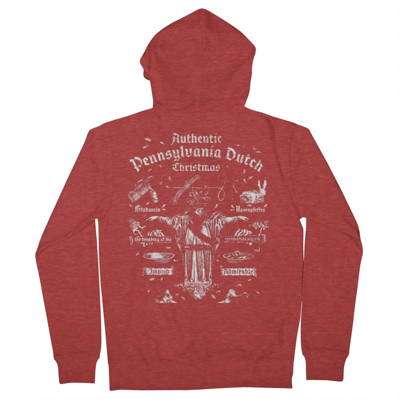 Belsnickel Celebrates Authentic Pennsylvania Dutch Christmas Women's French Terry Zip-Up Hoody by World Famous Design Junkies