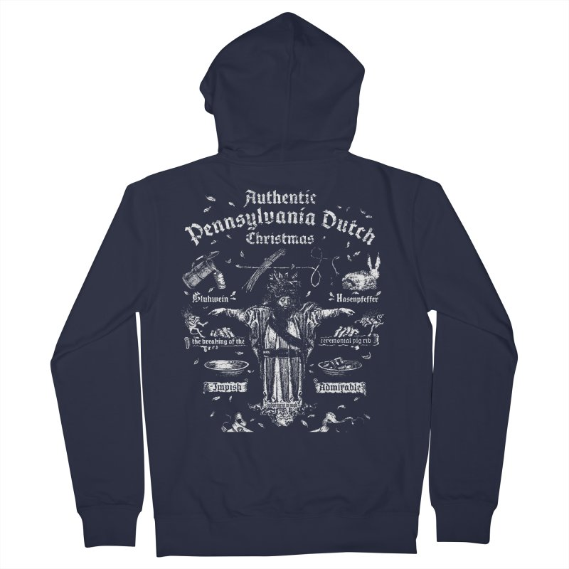 Belsnickel and the Authentic Pennsylvania Dutch Christmas Men's Zip-Up Hoody by World Famous Design Junkies