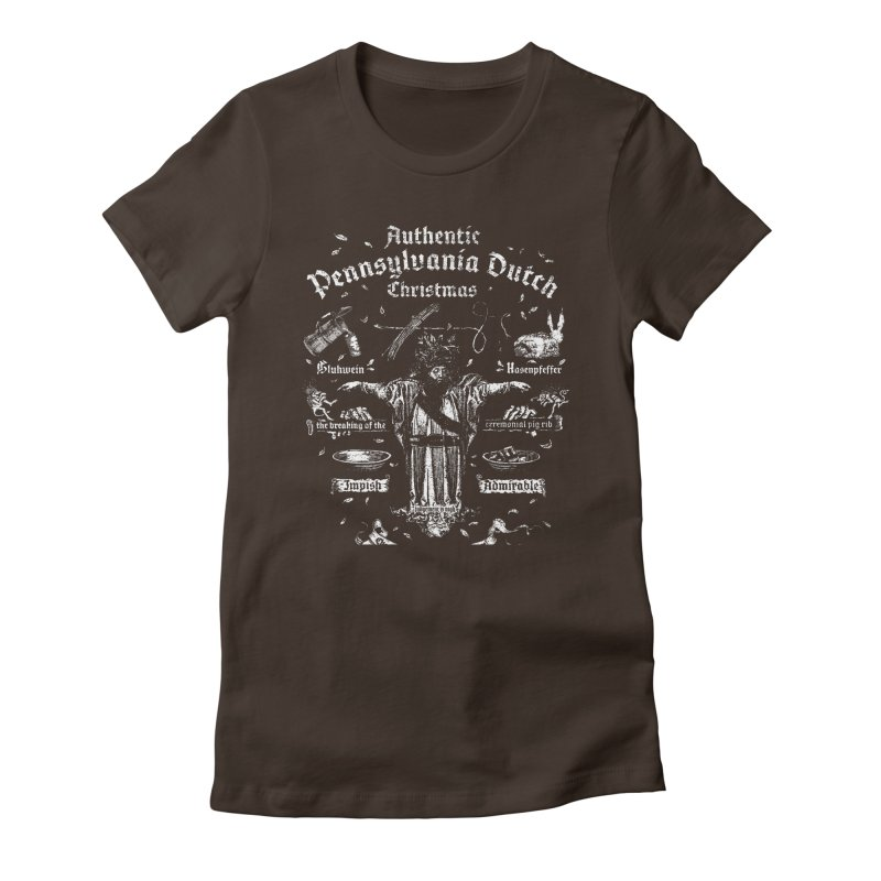 Belsnickel and the Authentic Pennsylvania Dutch Christmas Women's Fitted T-Shirt by World Famous Design Junkies