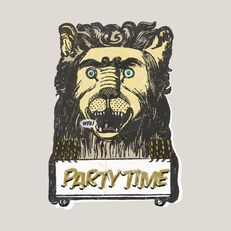 PARTY TIME Women's Fitted T-Shirt by World Famous Design Junkies
