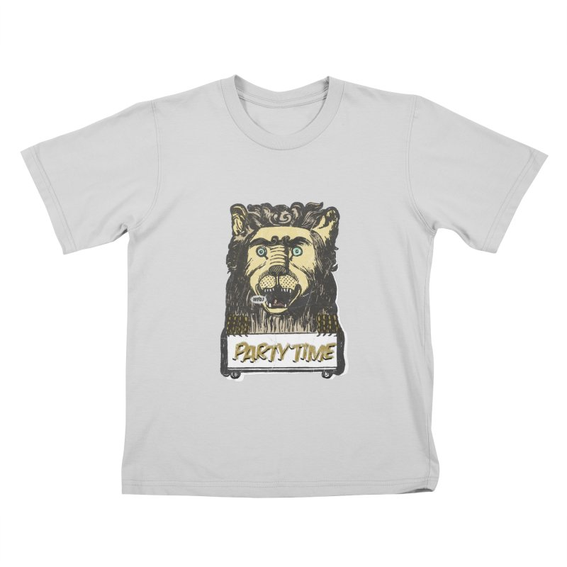 PARTY TIME Kids T-Shirt by World Famous Design Junkies