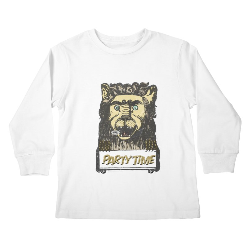 PARTY TIME Kids Longsleeve T-Shirt by World Famous Design Junkies