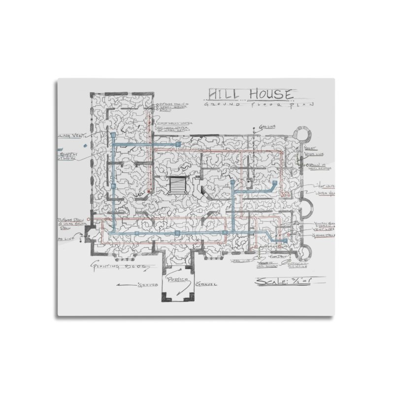 Hill House Blueprint Home Mounted Acrylic Print by World Famous Design Junkies