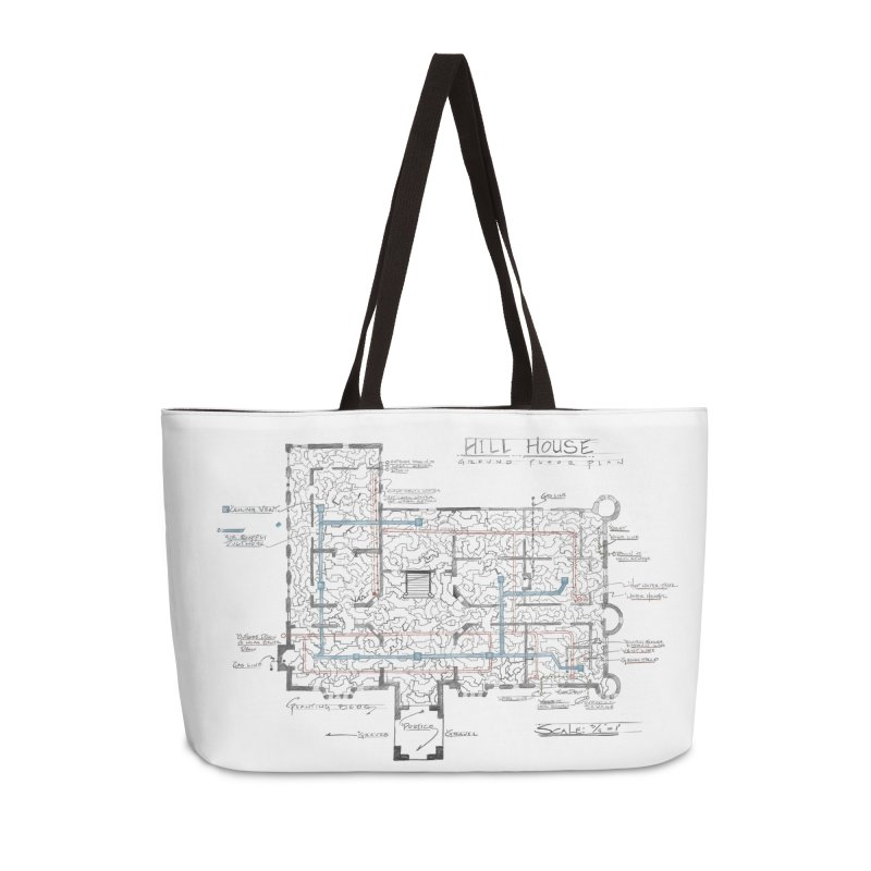 Hill House Blueprint Accessories Bag by World Famous Design Junkies