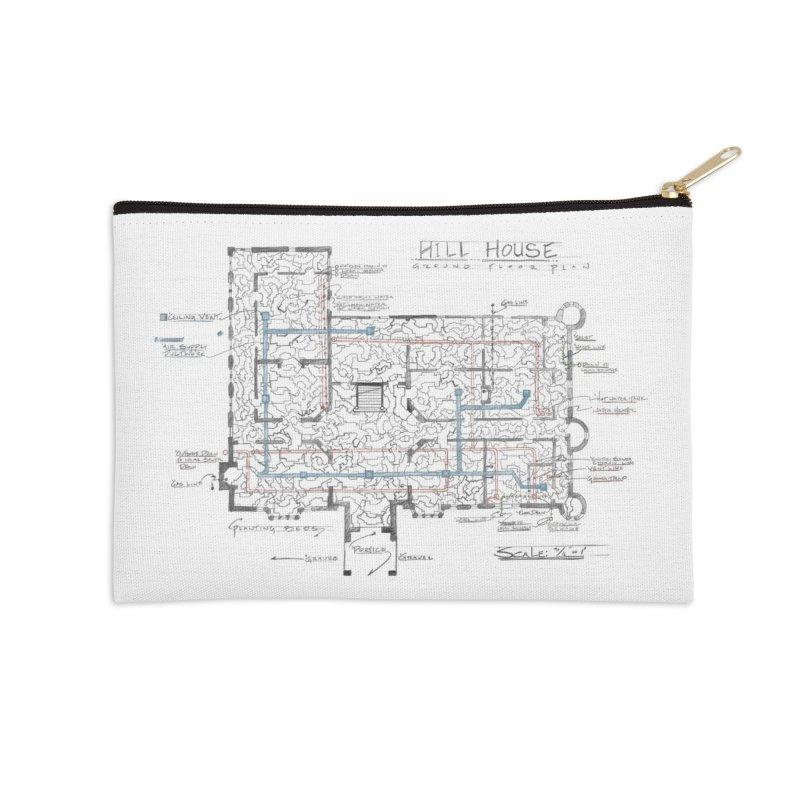 Hill House Blueprint Accessories Zip Pouch by World Famous Design Junkies