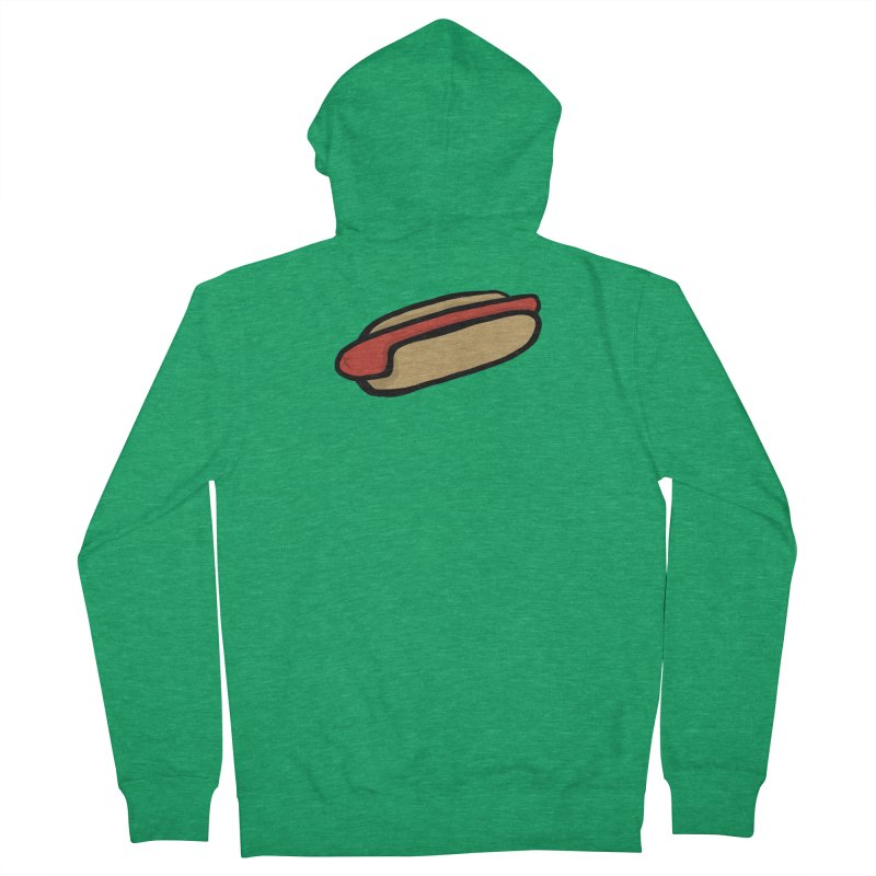 Hotdog Life Men's French Terry Zip-Up Hoody by World Famous Design Junkies
