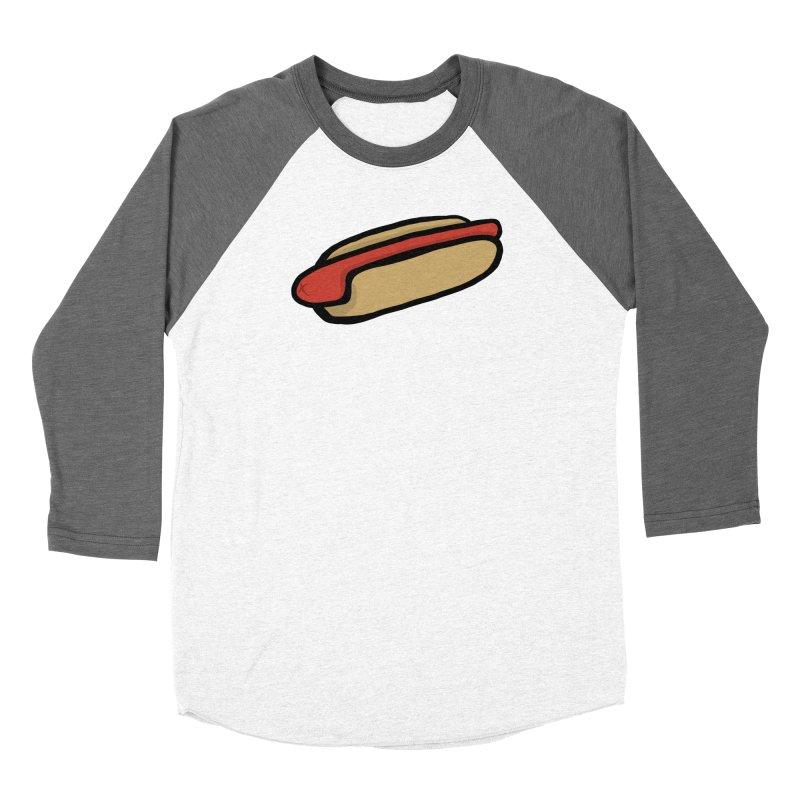 Hotdog Life Women's Baseball Triblend Longsleeve T-Shirt by World Famous Design Junkies