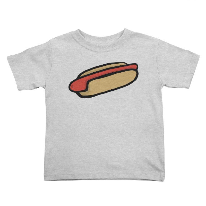 Hotdog Life Kids Toddler T-Shirt by World Famous Design Junkies
