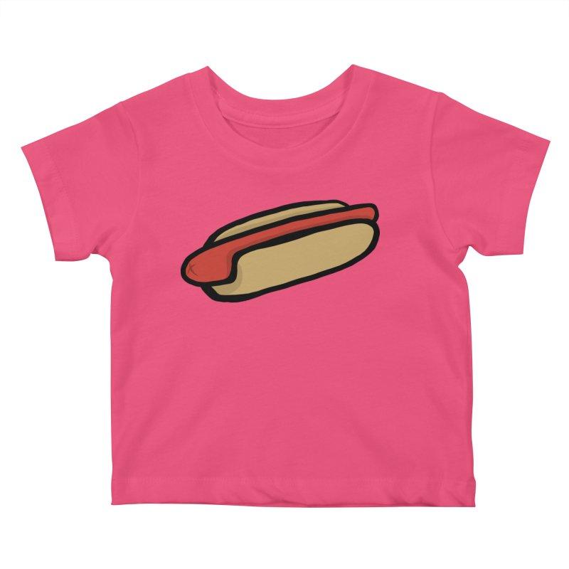 Hotdog Life Kids Baby T-Shirt by World Famous Design Junkies