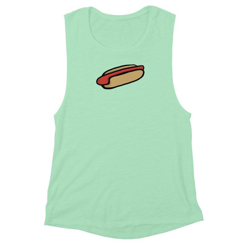 Hotdog Life Women's Muscle Tank by World Famous Design Junkies