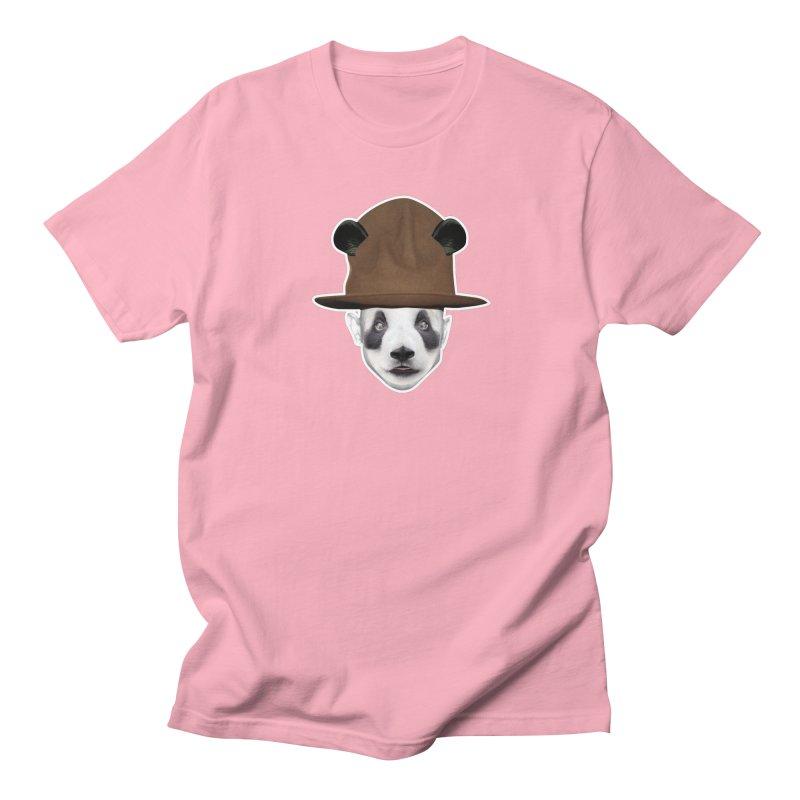 24/7 Panda in Men's T-Shirt Light Pink by WHADDUPANDA BODEGA