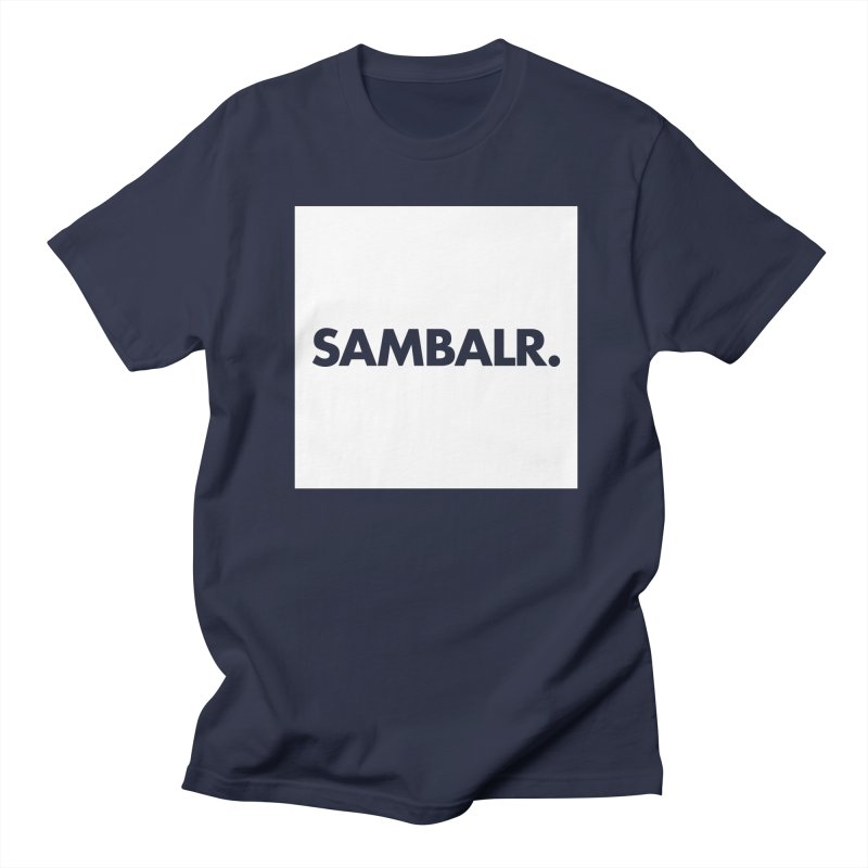 SAMBALR White Flag Men's T-shirt by WHADDUPANDA BODEGA
