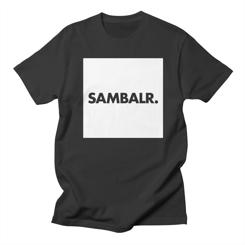SAMBALR White Flag Men's T-Shirt by WHADDUPANDA BODEGA
