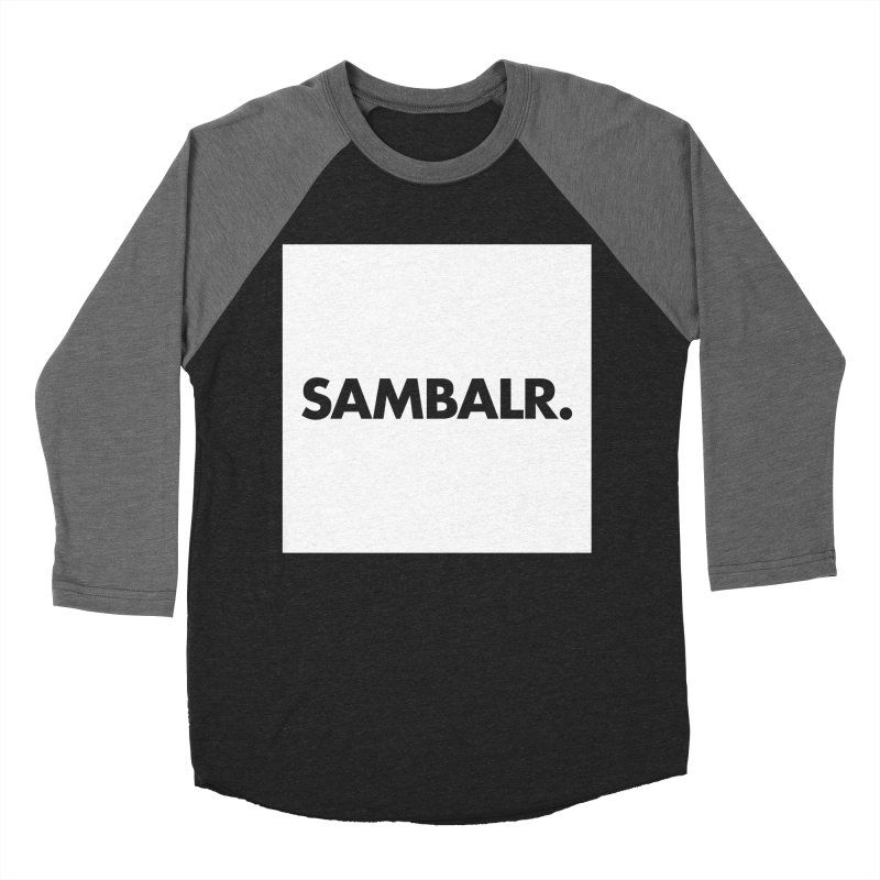 SAMBALR White Flag Men's Baseball Triblend T-Shirt by WHADDUPANDA BODEGA