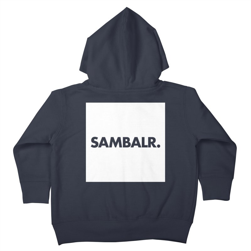 SAMBALR White Flag Kids Toddler Zip-Up Hoody by WHADDUPANDA BODEGA