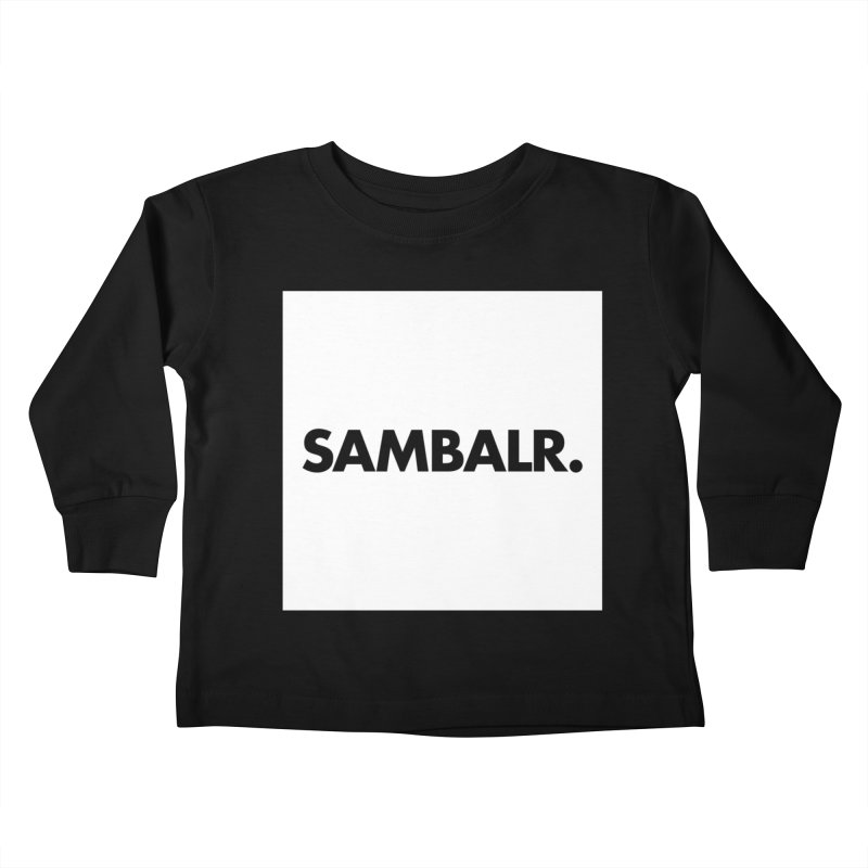 SAMBALR White Flag Kids Toddler Longsleeve T-Shirt by WHADDUPANDA BODEGA