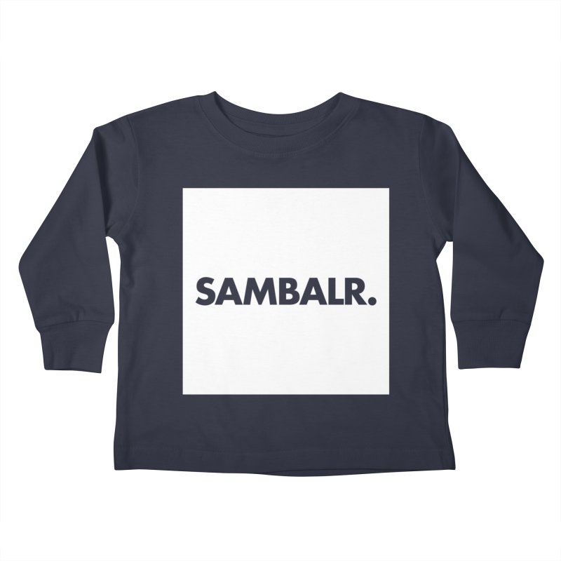 SAMBALR White Flag Kids Toddler Longsleeve T-Shirt by WHADDUPANDA BODEGA