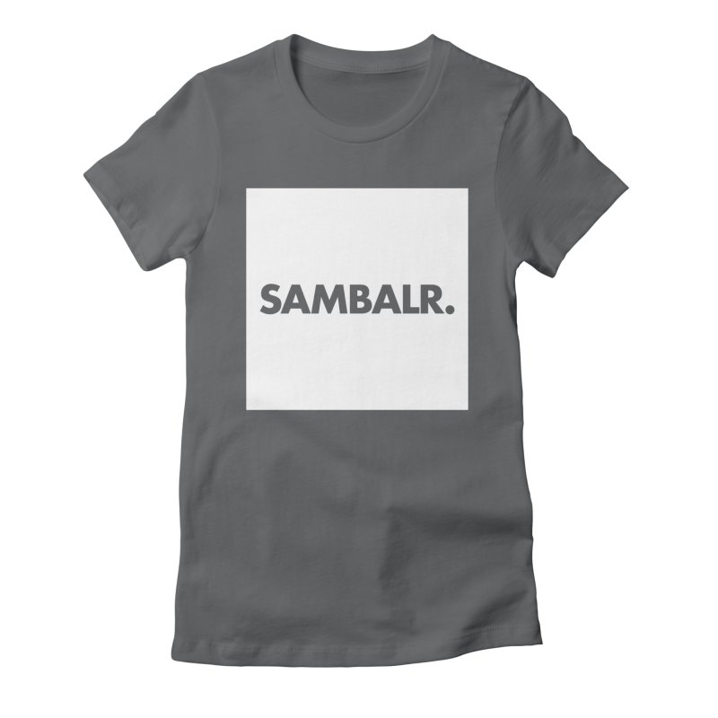 SAMBALR White Flag Women's Fitted T-Shirt by WHADDUPANDA BODEGA