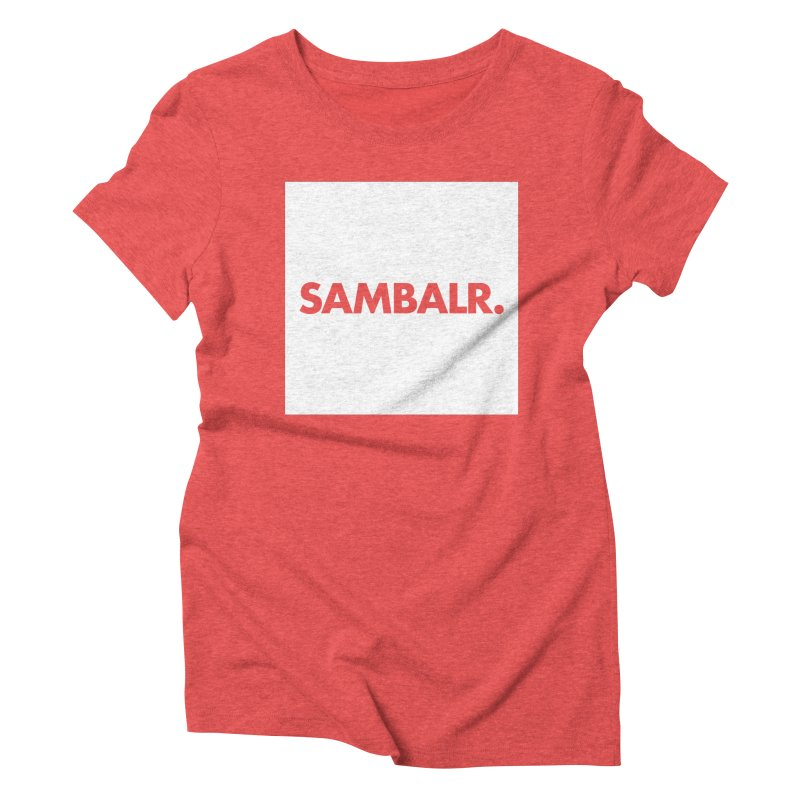 SAMBALR White Flag Women's Triblend T-shirt by WHADDUPANDA BODEGA