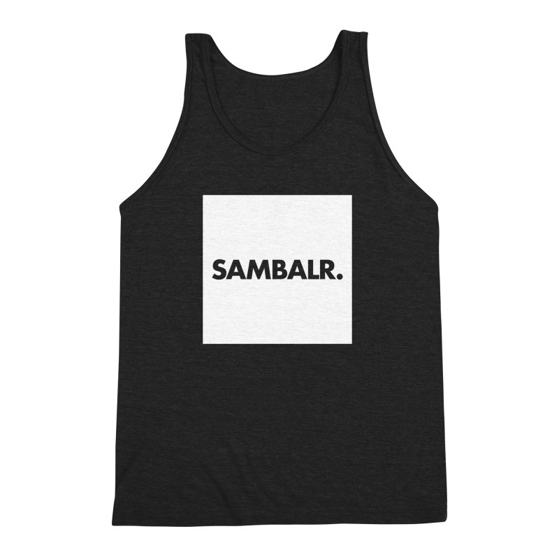 SAMBALR White Flag Men's Triblend Tank by WHADDUPANDA BODEGA