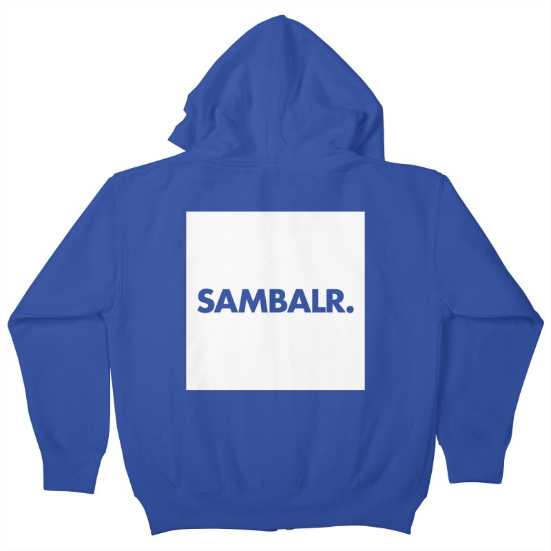 SAMBALR White Flag Kids Zip-Up Hoody by WHADDUPANDA BODEGA