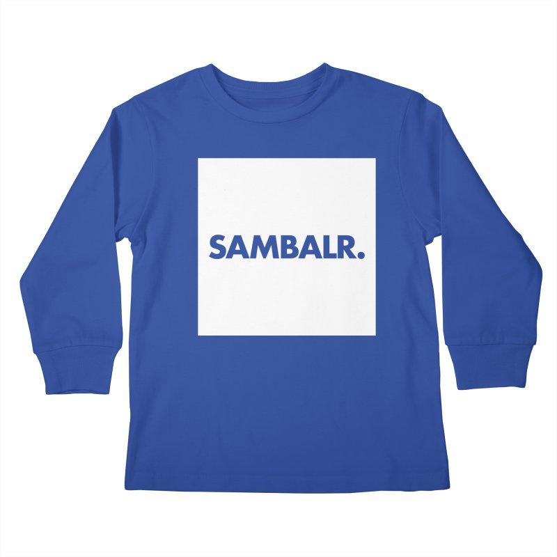 SAMBALR White Flag Kids Longsleeve T-Shirt by WHADDUPANDA BODEGA