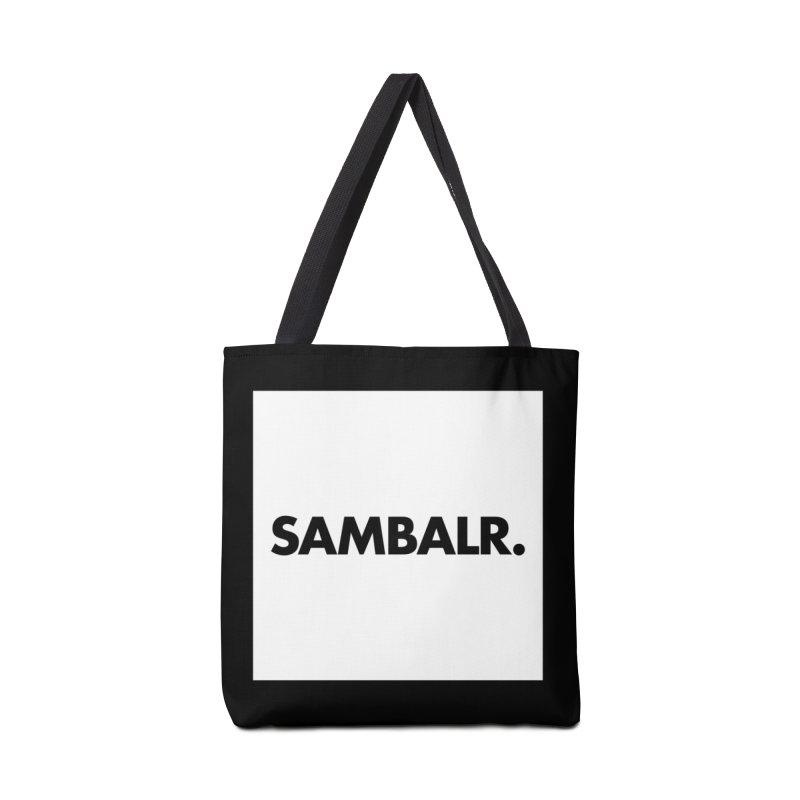 SAMBALR White Flag Accessories Bag by WHADDUPANDA BODEGA