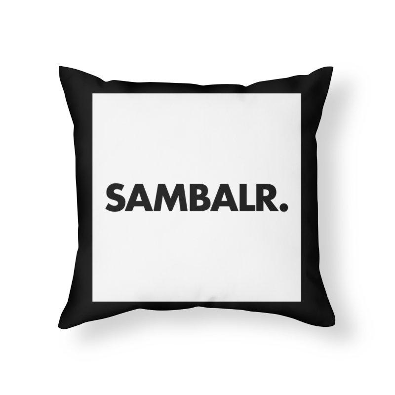 SAMBALR White Flag Home Throw Pillow by WHADDUPANDA BODEGA