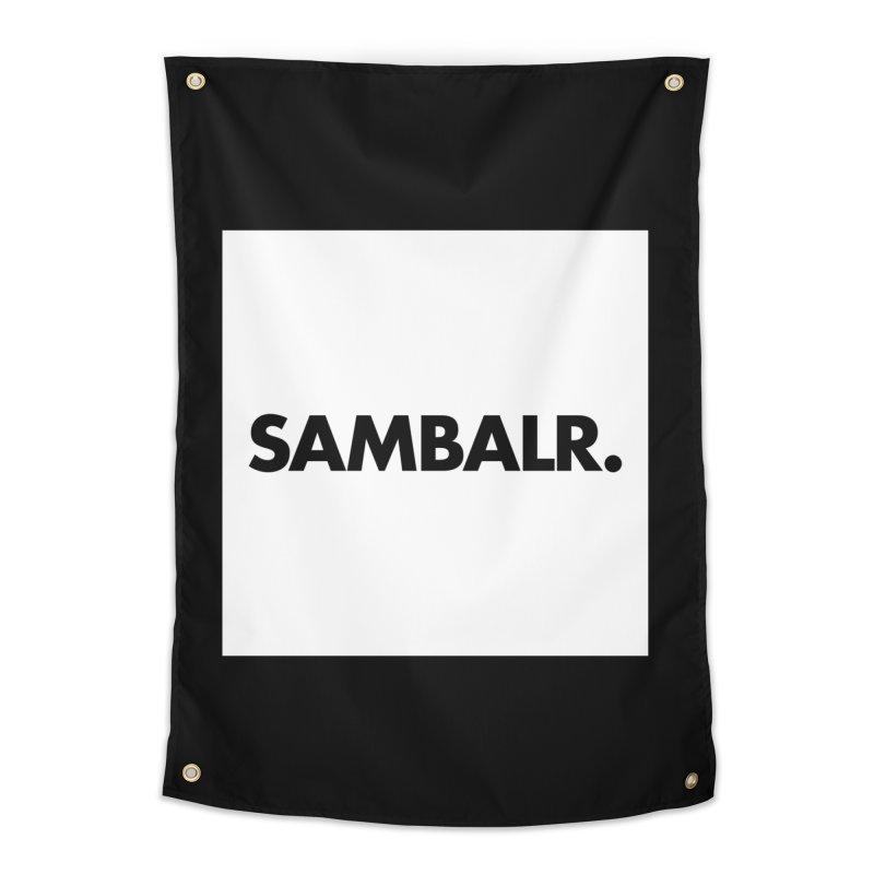 SAMBALR White Flag Home Tapestry by WHADDUPANDA BODEGA