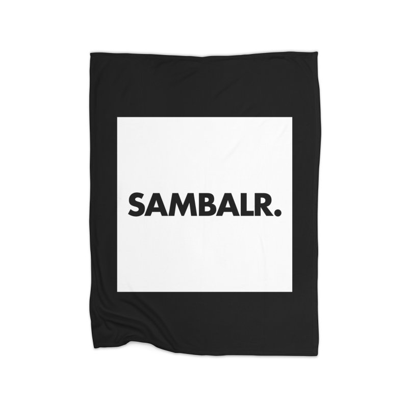 SAMBALR White Flag Home Blanket by WHADDUPANDA BODEGA