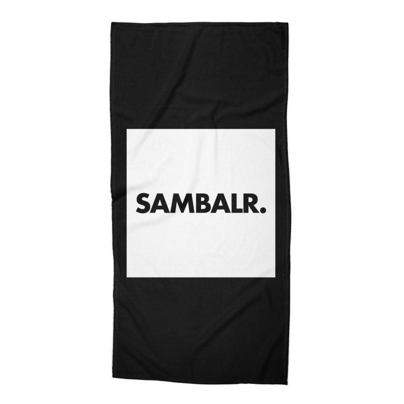 SAMBALR White Flag Accessories Beach Towel by WHADDUPANDA BODEGA