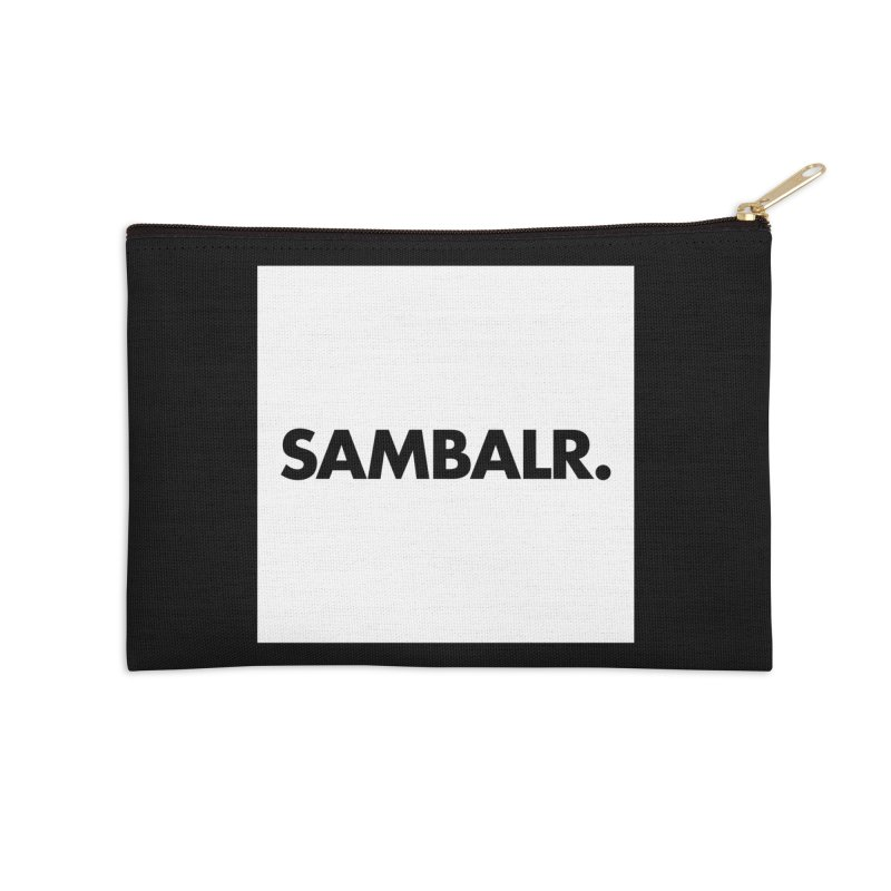 SAMBALR White Flag Accessories Zip Pouch by WHADDUPANDA BODEGA