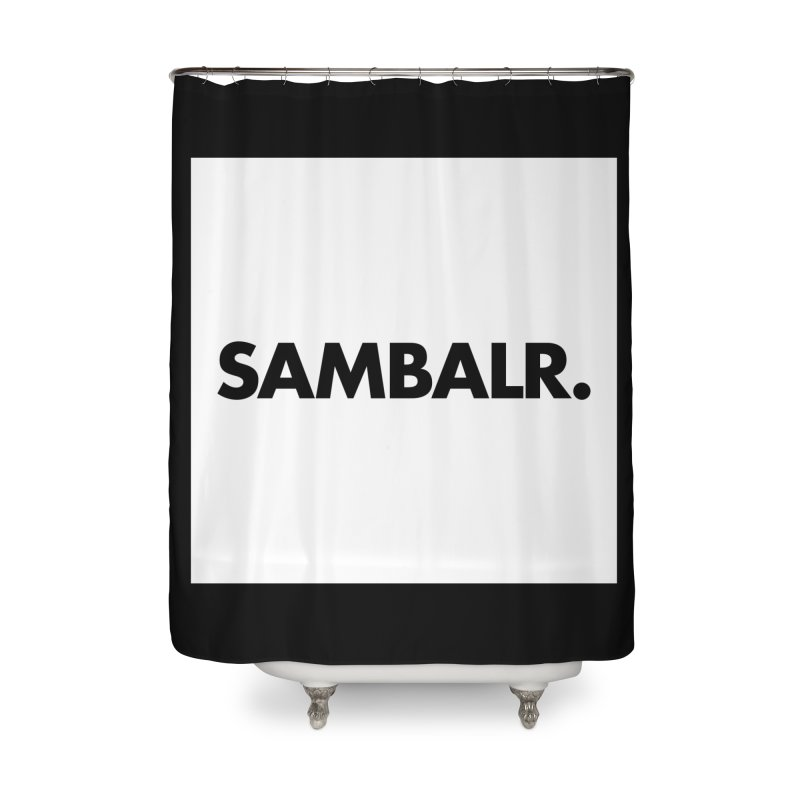SAMBALR White Flag Home Shower Curtain by WHADDUPANDA BODEGA