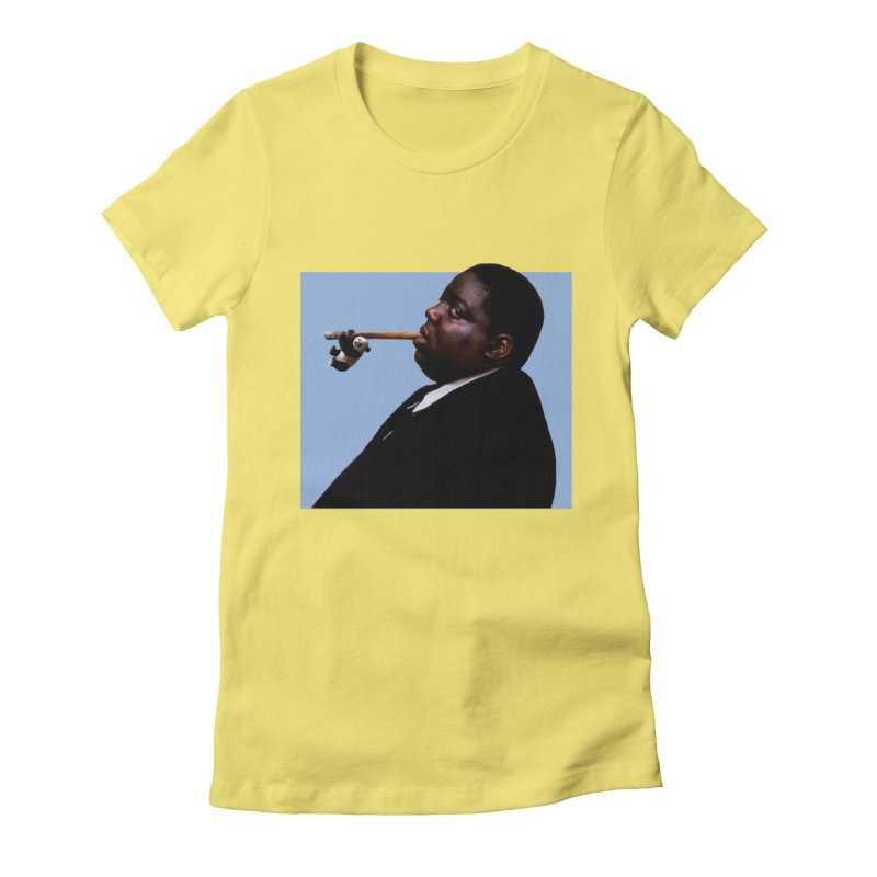 Biggie Panda Women's Fitted T-Shirt by WHADDUPANDA BODEGA
