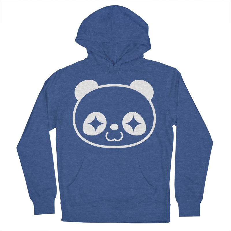 PANDA HEAD white Men's Pullover Hoody by WHADDUPANDA BODEGA