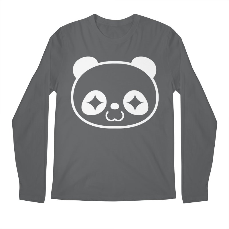 PANDA HEAD white Men's Longsleeve T-Shirt by WHADDUPANDA BODEGA