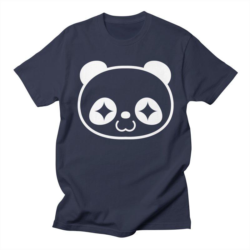 PANDA HEAD white Women's Unisex T-Shirt by WHADDUPANDA BODEGA