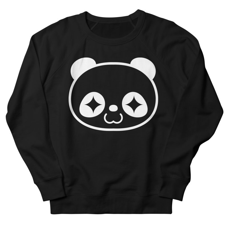 PANDA HEAD white Women's Sweatshirt by WHADDUPANDA BODEGA