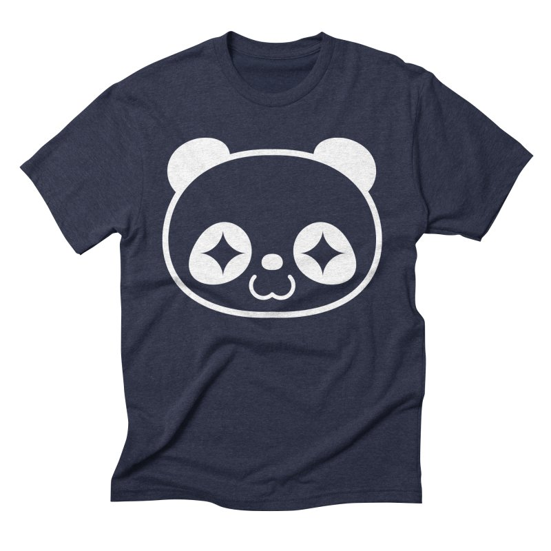 PANDA HEAD white Men's Triblend T-shirt by WHADDUPANDA BODEGA